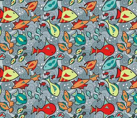Fantasy Fish fabric by brendazapotosky on Spoonflower - custom fabric