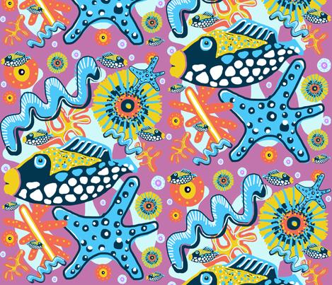 Big Fish, Little Fish fabric by slumbermonkey on Spoonflower - custom fabric