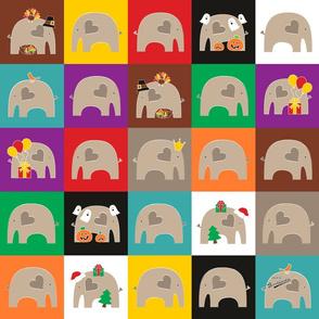 Elephant Love Quilt 2