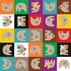 Elephant Love Quilt 3