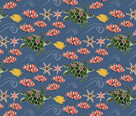 Reef fabric by fossan on Spoonflower - custom fabric