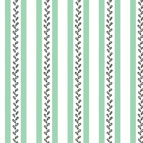 Audrey Stripe plus Leaves