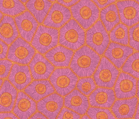 coral pattern in magenta and orange fabric by weavingmajor on Spoonflower - custom fabric