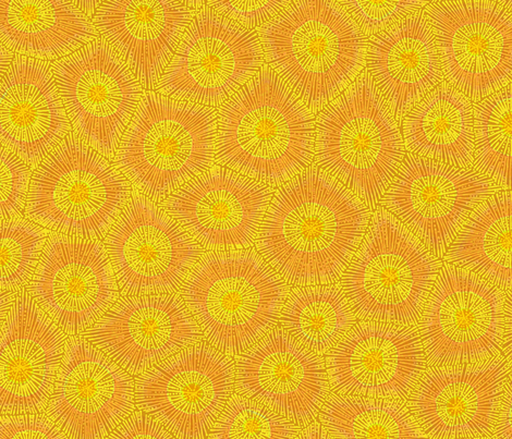 coral pattern in gold