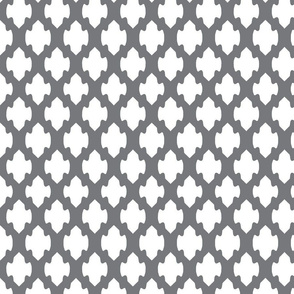 Gray and white arrow lattice