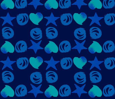 cestlaviv_star o heart fabric by cest_la_viv on Spoonflower - custom fabric