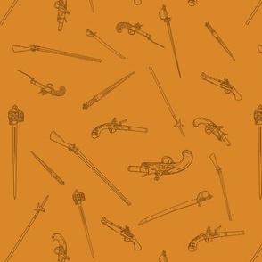 Historical Weapons Spread Orange