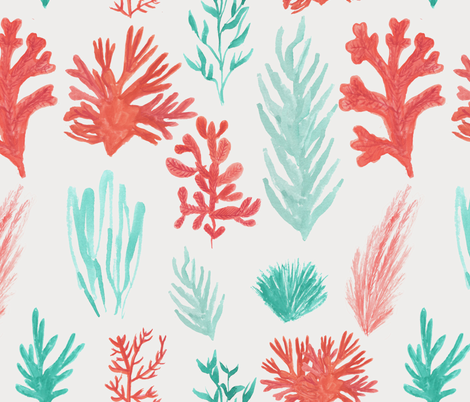 Coral Reef fabric by abbyg on Spoonflower - custom fabric
