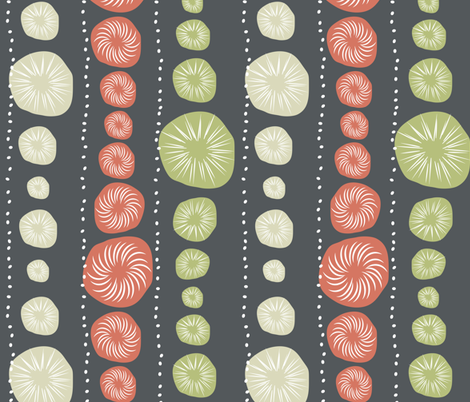 Sea Urchin Blue fabric by designedtoat on Spoonflower - custom fabric