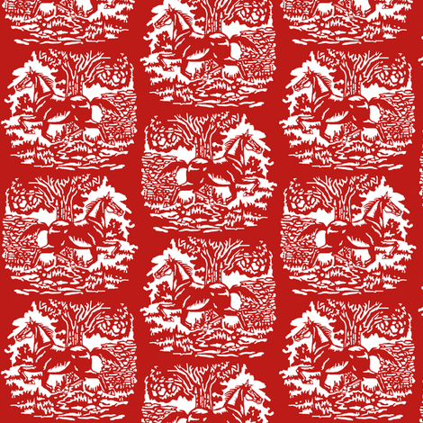 Year of the Cut Paper Horse 2 fabric by eclectic_house on Spoonflower - custom fabric