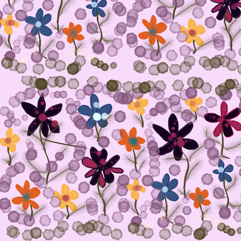Garden_Delight_I fabric by skcreations,_llc on Spoonflower - custom fabric