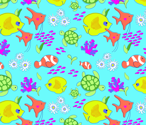 Love_the_Reef fabric by wese on Spoonflower - custom fabric