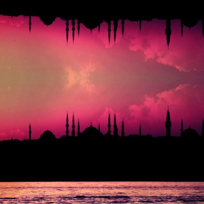 Istanbul Lilac Border