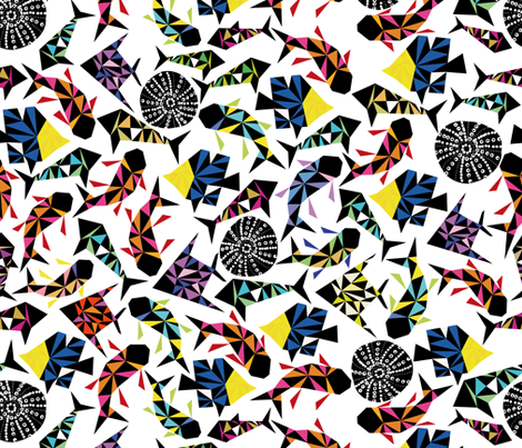 kaleidoscopic depth  fabric by zapi on Spoonflower - custom fabric