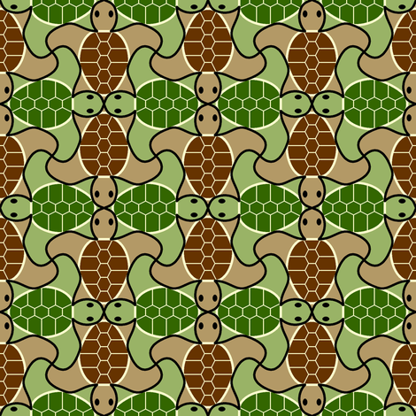 turtle 4g X fabric by sef on Spoonflower - custom fabric