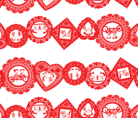 Valentine-Stripe-big fabric by gnome_work on Spoonflower - custom fabric