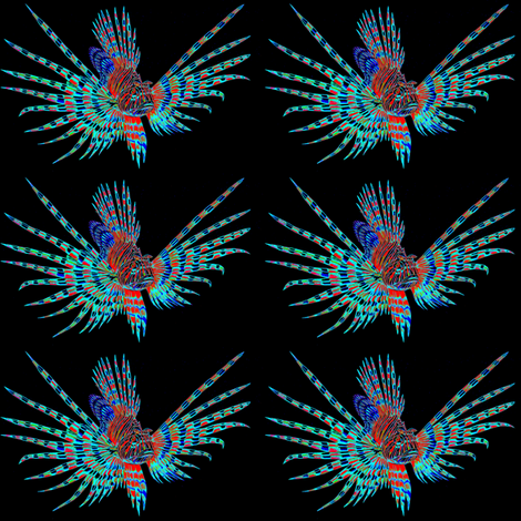 Pterois (Lionfish) fabric by craftyscientists on Spoonflower - custom fabric