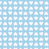 mini hearts (blue)