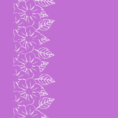 White Flower Border on Purple