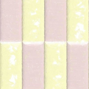 Pink and White Blocks Watercolor