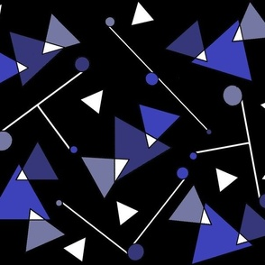 Abstract Geometric in Blue