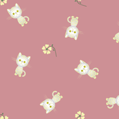 Pretty Kittens on Dark Pink
