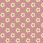 Cream Flowers on Dark Pink