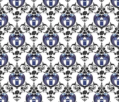 Doctor_Damask_2pt1_close fabric by morrigoon on Spoonflower - custom fabric