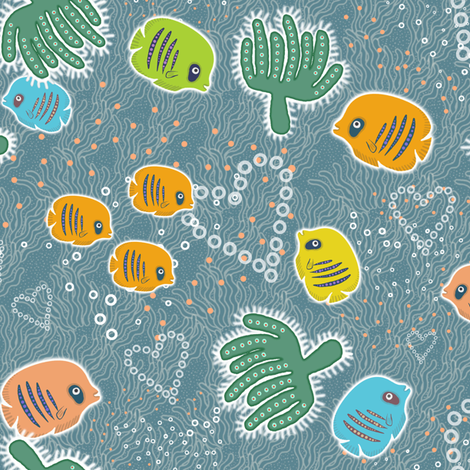 Sweet Barrier Reef fabric by emilykariya on Spoonflower - custom fabric