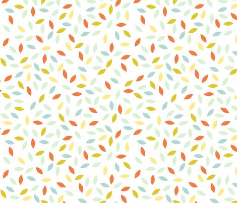 petals_orange fabric by brokkoletti on Spoonflower - custom fabric