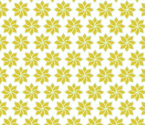 simple flower 1 fabric by brokkoletti on Spoonflower - custom fabric