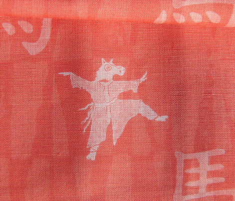 Year Of The Horse - white wash on red