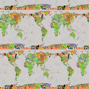 World Map - Botanical