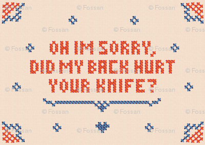 Anti-valentine cross stitch