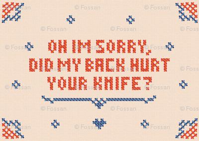 Anti-valentine cross stitch