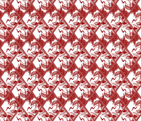 Chinese paper stork fabric by unseen_gallery_fabrics on Spoonflower - custom fabric