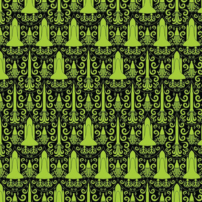 Rocket Science Damask (Black and Green)
