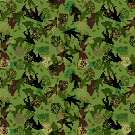bigfoot camo fabric by keweenawchris on Spoonflower - custom fabric