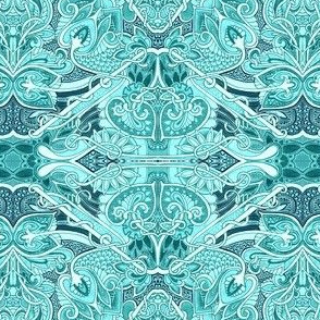 Paisley Infestation  (aqua/teal)
