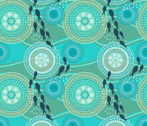 Down Under the Sea fabric by katherinelenius on Spoonflower - custom fabric
