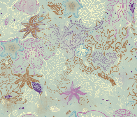 underwater_gardens fabric by cibelle on Spoonflower - custom fabric