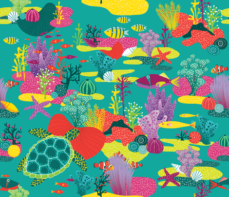 great_barrier_reef fabric by oohoo on Spoonflower - custom fabric