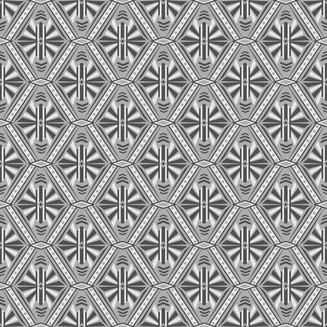 Art Deco Diamond (Gray) fabric by robyriker on Spoonflower - custom fabric