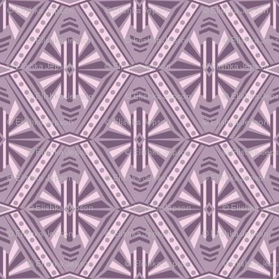 Art Deco Diamonds (Purple)