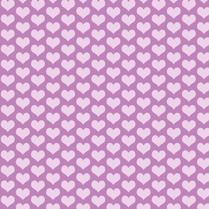 Hearts Lilac and Purple