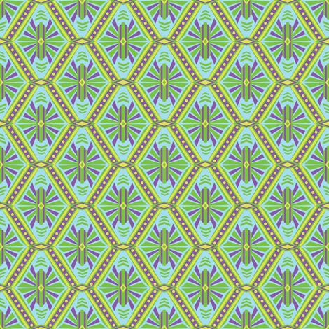 Art Deco Diamonds (Cool Neon) fabric by robyriker on Spoonflower - custom fabric