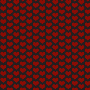 Hearts Red and Black