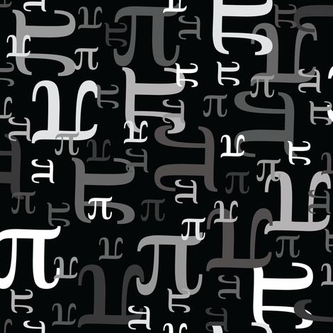 Pieces of Pi (Black & Gray)