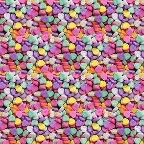 Valentines Candy Sweet Hearts Colorful