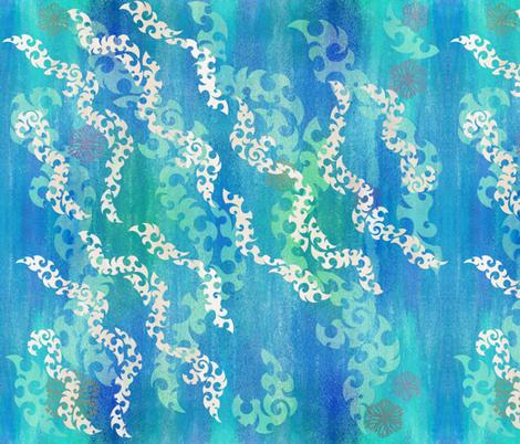 Shimmering shoals fabric by ladyrattus on Spoonflower - custom fabric